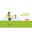 football tournament landing page template vector image