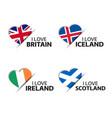 four british icelandic irish and scottish stickers vector image vector image
