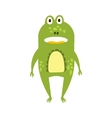 Frog Standing Facing Flat Cartoon Green Friendly vector image
