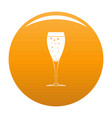 full glass icon orange vector image