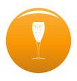 full glass icon orange vector image vector image