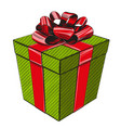 gift box birthday holiday symbol christmas hand vector image