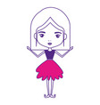 girly fairy without wings and mushroom hairstyle vector image vector image