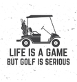 Golf club concept with golfer car vector image vector image