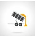 Grain trailer flat color icon vector image vector image