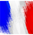 grunge background in colors french flag vector image vector image