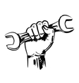 hand and wrench vector image vector image
