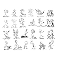 hand drawing sketch doodle human stick figure vector image