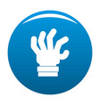 hand fear icon blue vector image vector image