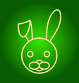 head of the easter bunny with lowered ear vector image vector image