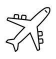 icon airplane plane vector image