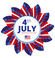 Independence day of 4th july vector image vector image