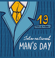 international man day concept background hand vector image