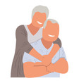 isolated old couple hugging vector image vector image