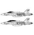 mcdonnell douglas f-18 hornet vector image vector image