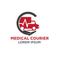 medical courier logo designs vector image