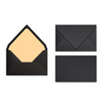 mock-up of black designed envelope front view vector image vector image