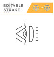 ophthalmic scheme line icon vector image vector image