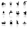 plumbing sanitary engineering icons set vector image vector image