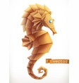 sea horse 3d icon vector image