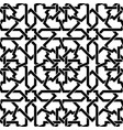seamless arabic geometric ornament in black and vector image vector image