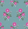 seamless pattern with pink colors pof a dog rose vector image vector image