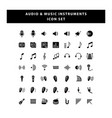 set audio and musical instruments icon with vector image vector image