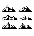 set mountains isolated on white background vector image