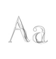 Smoke or Haze Letter Font Type two letters vector image vector image