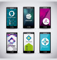 templates design set of mobile technology business vector image vector image