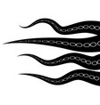 tentacles octopus parts of sea monster natural vector image vector image