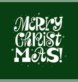 trendy merry christmas typography card vector image vector image