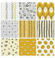 trendy pattern set vector image vector image