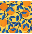 tropical seamless pattern with oranges vector image vector image