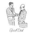 two businessmen made a good deal vector image