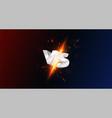 versus vs screen with 3d metal letters vector image