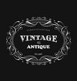 vintage frame design antique label border