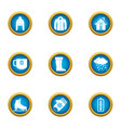 winter flavour icons set flat style vector image vector image