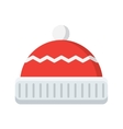 winter hat icon vector image vector image
