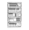 wooden bookcase cabinet vector image vector image