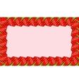 Strawberry frame vector image