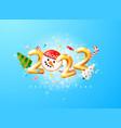 2022 happy new year 3d render gold metallic sign vector image