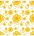 A yellow flowery design vector image vector image