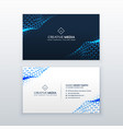 abstract blue business card design with triangles vector image vector image