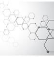 Abstract molecular connection vector image vector image