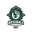 Baseball championship 2017 logo design element