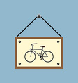 bicycle hanging sign board vector image vector image