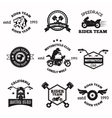 Bikers badges emblems icons