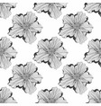 black and white pattern with flowers seamless vector image vector image