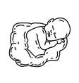 Born icon doddle hand drawn or black outline icon